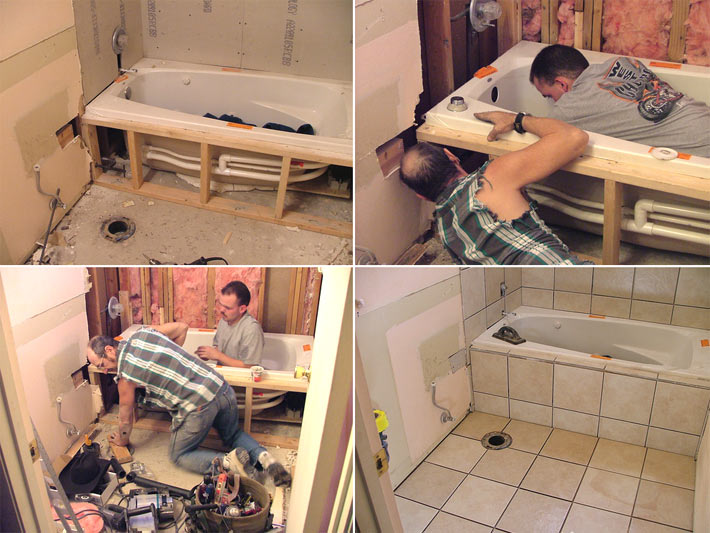 Установка ванны своими руками стена 53