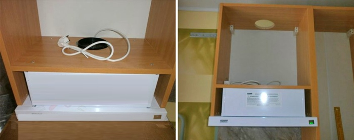 Установка встраиваемой вытяжки в шкаф своими руками 8