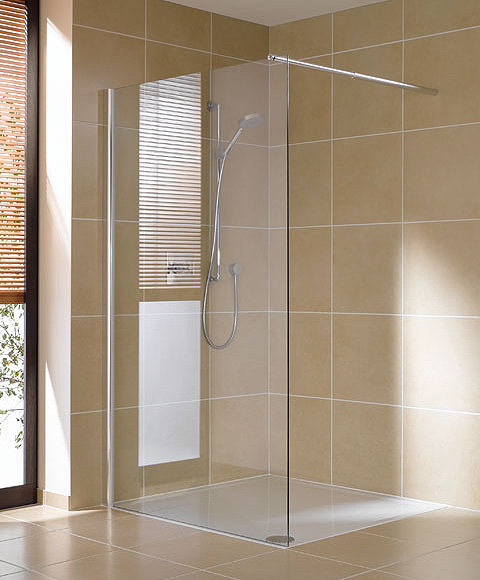 Shower area in the bathroom. Choose a shower cabin