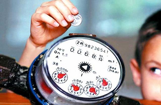 Városi vízmérő csatlakoztassa