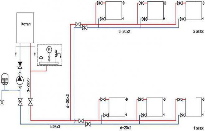 Расчет система отопления 2-х этажного частного дома своими руками 9